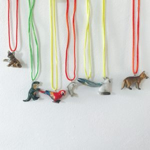 Animal Necklace Leather Cord