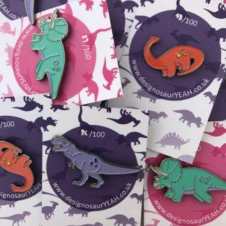 Enamel Dinosaur Pins